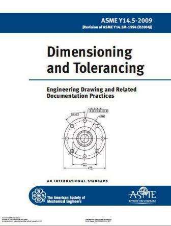 تلرانس گذاری با استفاده از استاندارد ASME Y14.5-2009 Dimensioning and Tolerancing